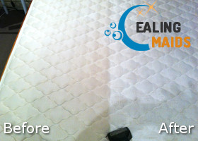 Before and After Steam Mattress Cleaning